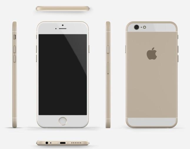 Tomas Moyano ve Nicolas Aichino tarafından hazırlanan iPhone 6 görseli