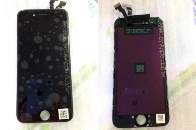 iPhone 6 ön panel (siyah)