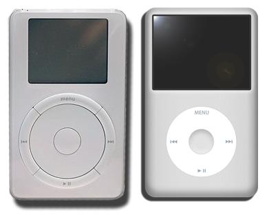1. jenerasyon iPod ve 6. jenerasyon iPod classic