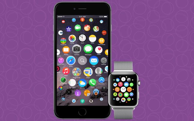 apple watch on iphone