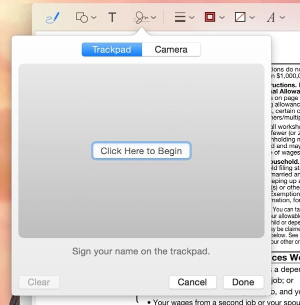 trackpad-işaretleme